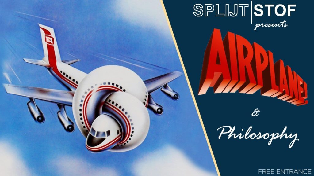 Banner with the movieposter of airplane